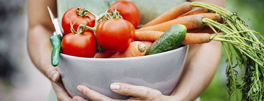 woman holding bowl of vegetables to advertise eye nutrition in fulton mo