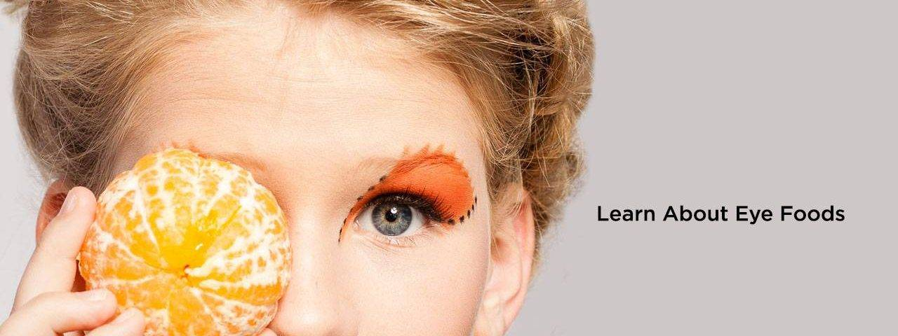 Eye doctor, woman with an orange on her eye in Fulton, Missouri