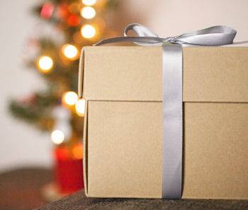 christmas brown paper package